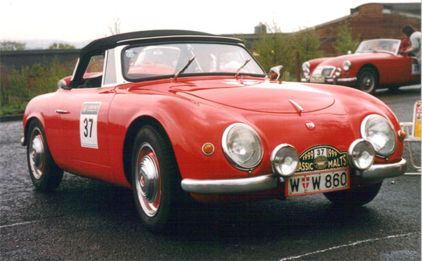 Classic red sports car
