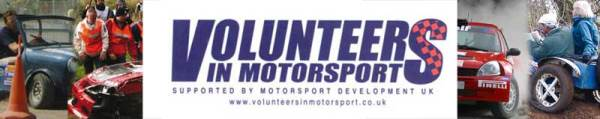 Volunteers In Motorsport Banner